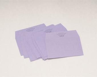 10 Classiky Letterpress Envelope Set - Fujimurasaki