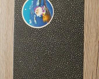 Small Happy new year postcard,  Holiday Postcard,Vintage Christmas Greeting Card, Soviet PostCard, Rare postcards. P0010