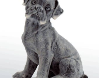 Russian Figurine Dog Handmade boxer puppy Marble Chips Art Statue Souvenirs Russia