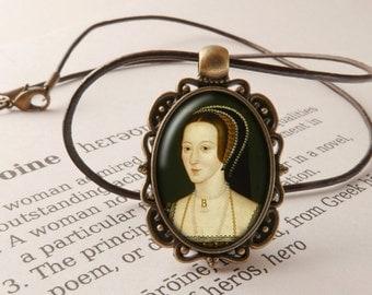 Anne Boleyn Pendant Necklace - Anne Boleyn Jewelry, The Tudors Necklace, Henry VIII Pendant, Wolf Hall Necklace, Anne Boleyn Jewellery