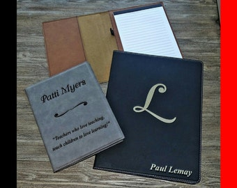 Business Portfolio, Custom Portfolio, Leatherette, Business Gifts, Notebook, Personalized Notepad, Custom Notebook, Engraved Notebook