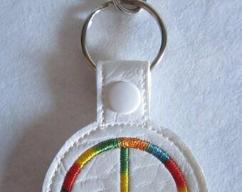 Peace Sign KeyFob Zipper Charm