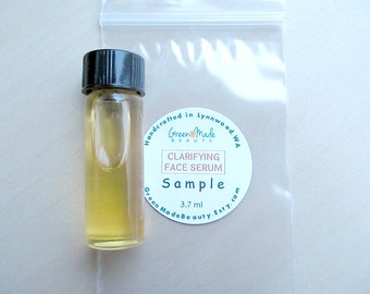 SAMPLE  Clarifying  FACE SERUM / Face oil/ Acne serum / Jojoba- Grapeseed- Sea buckthorn/Light face oil/Tea tree