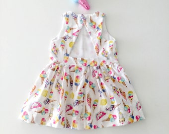 Ice cream dress girls toddlers birthday ice cream by berry and kit