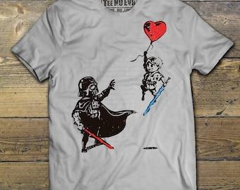Darth Vader Tee Shirt Star Wars Luke Skywalker Banksy Rogue One Cute