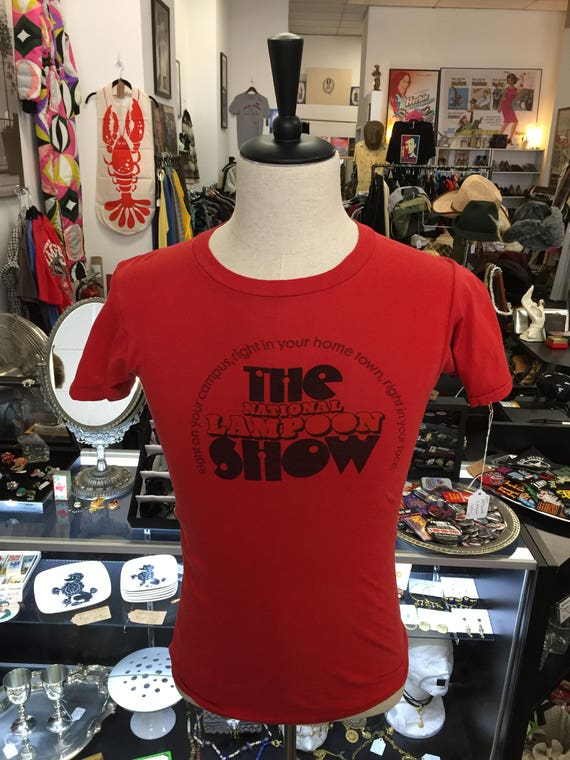 Vintage 1970s The National Lampoon Show Tour Tee Sz S