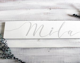 Baby Name Sign, Baby Name Wall Art, Personalized Nursery Baby Name Sign, Newborn Name Sign, Nursery Name Sign, Baby Shower Gift, Baby Gift