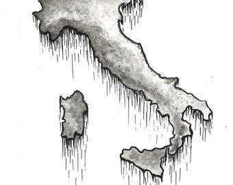 Custom-made pen and ink drawings of the country or state of your choice!