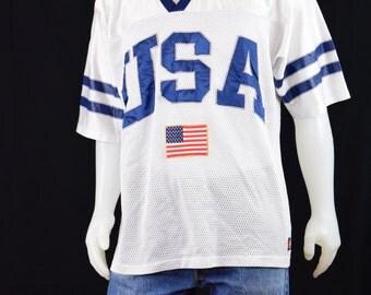 Mens Shirt Jersey Vintage USA Jersey
