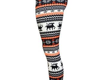 FREE Shipping for 2 ! FLEECE LINED, Womens leggings,Printed leggings,Yoga leggings,christmas leggings,reindeer leggings,aztec leggings