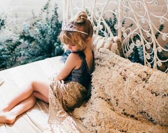 Girls Sequin Mermaid Skirt - Mermaid Tail