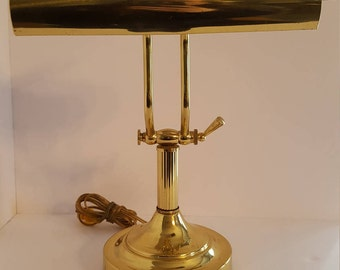 Vintage Brass Piano or Desk Lamp