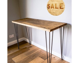 Simplistic Rustic Desk / Sideboard / Dressing Table with Hairpin Legs