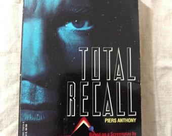 Total Recall Vintage Paperback Sci-fi Piers Anthony 1989 Movie Novelization