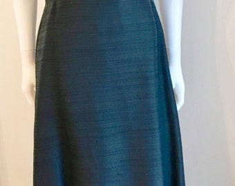 1970s Dress / Capriccio by Roter of London / A- Line Maxi / Black / Evening / M