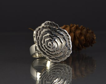 Silver ring, bright silver decoration, exclusive design, fashion, women, Ag 925, ready to ship