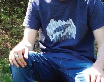 Men's Whale T-Shirt - Humpback Whale (Balaena Collection)