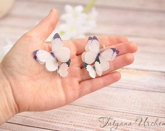butterfly jewelry butterfly Earrings wedding butterfly earrings bridal gift butterfly earrings wedding photo butterfly mismatched earrings