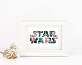 Star wars cross stitch pattern Flower Typography Quote Modern Silhouette Cute Floral Fan Birthday gift Lover Decor Instant download PDF #127