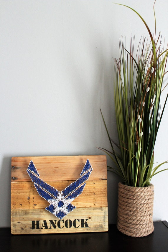 Air force string art sign military sign military decor for Decor 6 air force