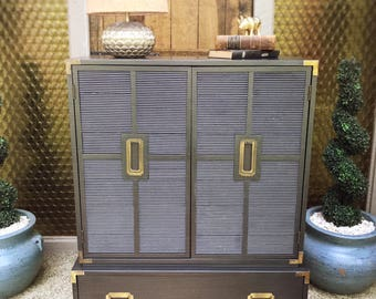 Back in Black Vintage Dixie Campaign Style Armoire (East TN area pickup only)