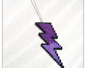 "SALE * necklace Choker ""Collection lightning"" gradient purple"