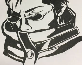 Auron, final fantasy illustration
