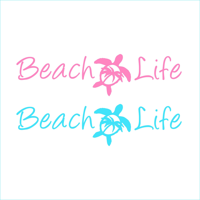 Beach life palm trees sea turtle svg, dxf, eps, png, pdf.