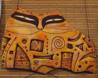 Wall panel made of clay
