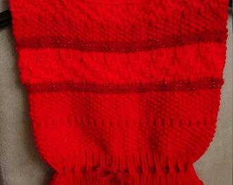 Sleeveless sweater, red vest for 4-5 yrs girl