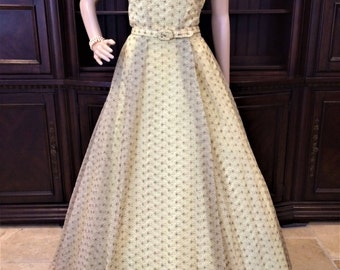 Exquisite Vintage 1940's Full Length Gown Pure Perfection!
