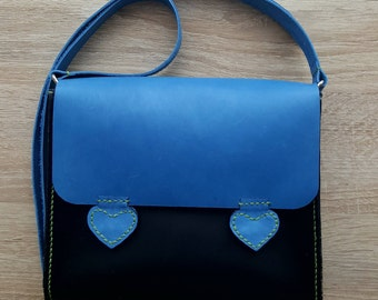 Ladies leather bag. Hand made.