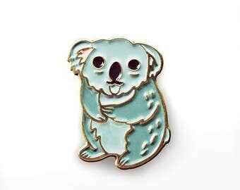 koala pin - koala enamel pin - backpack pins - koala bear - sad pin - lapel pin - australian animals marsupial - animal pin - koala bear pin
