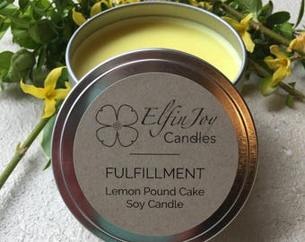 Lemon Pound Cake FULFILLMENT Soy Container Candle