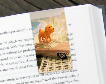 Dog Ocean Car Magnetic Bookmark