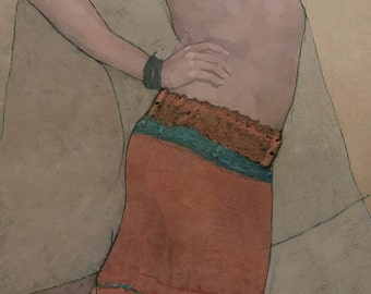Kara, Original Female Figure Painting