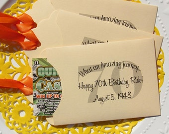 70th Birthday Favors | Favors For 70th Birthday | Lotto Favors Adult Birthday | Adult Birthday Favor |  70th Birthday | Lottery Favor