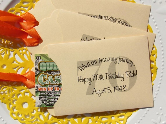 70th birthday favors favors for 70th birthday lotto favors. Black Bedroom Furniture Sets. Home Design Ideas