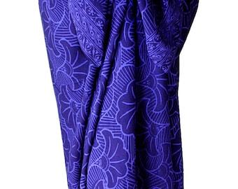 Beach Sarong Women's Clothing Wrap Skirt Gingko Leaf Sarong Beach Cover Up - Batik Pareo - Indigo Batik Sarong Skirt - Hawaiian Swimwear