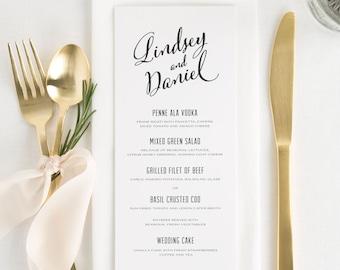 Modern Script Dinner Menus - Deposit