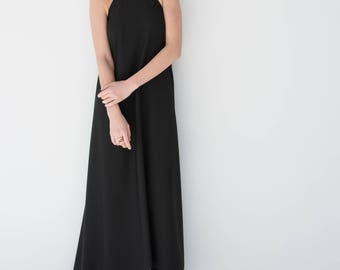 Halter Dress / Maxi Summer Dress / Party Dress / Long Dress / Unique Dress / Casual Dress /Floor-Length / Marcellamoda-MD0838