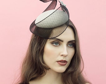The Leda Cocktail Hat,  Designer Races Millinery.