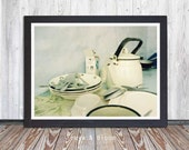 Kitchen Scene, Kitchen Art, Art Photography, Vintage, Wall Art, Photo Art, Printable Art, Instant Digital Download