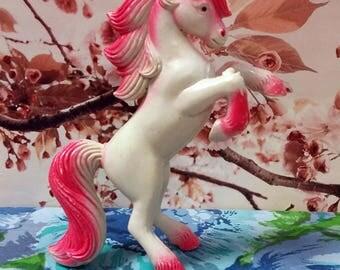 Pink & White Plastic Hong Kong Unicorn