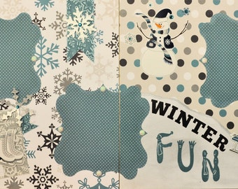 Winter Fun & Ice Skating Two-page 12 X 12 Scrapbook Layout By Ssc Designs