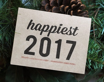 New Year Cards Set of 10 - Happiest 2017 Happy New Year Cards New Years