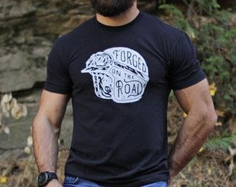 Men's T-shirt Sale - Black t-shirt for men - Men's Clothing - Men's Apparel - Black motorcycle tshirt - soft tee for men - helmet graphic