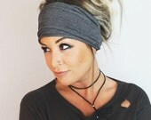 Soot Scrunch Headband, Extra Wide Headband, Turban Jersey Headband, Extra Wide Headband, Boho Headband, Boho head wrap (women, teen girls)