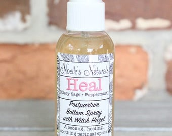 Postpartum Spray - Perineal Spritz - Mama Bottom Spray - Healing, soothing witch hazel, calendula, clary sage, peppermint