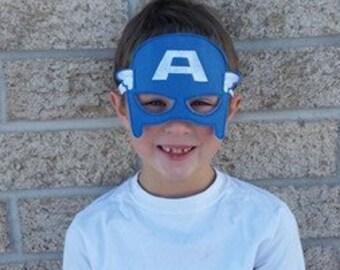 Felt Super Hero Mask - Captain America